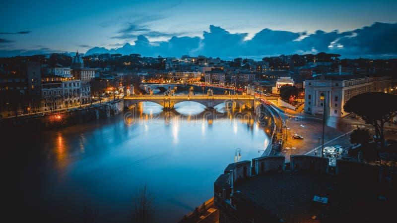 """Ποταμός Tiber από Castel SAN """"τ Angelo στοκ εικόνες"""