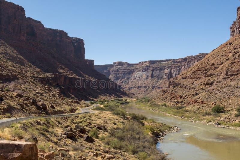 ποταμός Utah του Κολοράντο στοκ εικόνα
