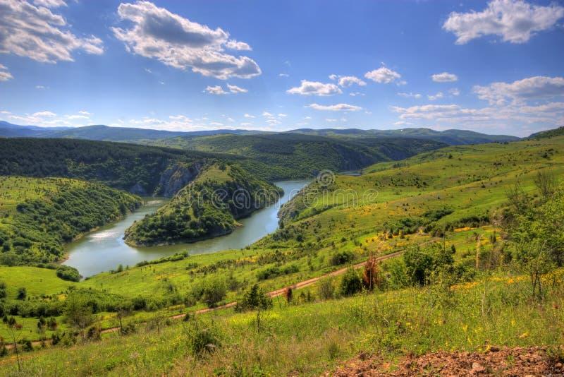 ποταμός uvac στοκ φωτογραφίες
