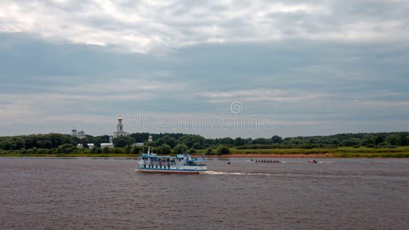 Ποταμός Volkhov σε Veliky Novgorod, Ρωσία r στοκ φωτογραφία με δικαίωμα ελεύθερης χρήσης