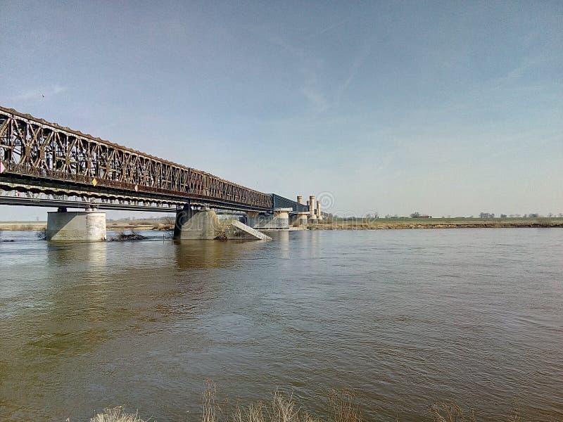 Ποταμός WisÅ 'α γεφυρών στοκ φωτογραφία με δικαίωμα ελεύθερης χρήσης