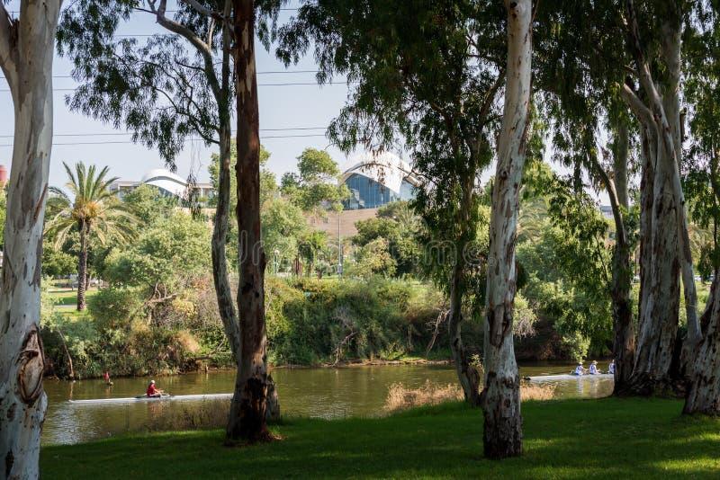 Ποταμός Yarkon στο Τελ Αβίβ στοκ φωτογραφία