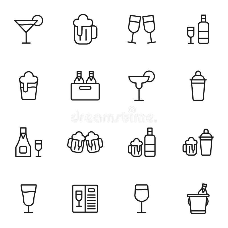 Ποτό και ποτά ελεύθερη απεικόνιση δικαιώματος