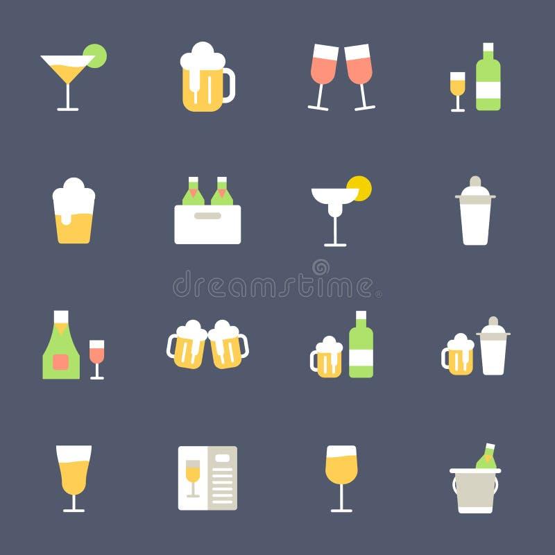 Ποτό και ποτά διανυσματική απεικόνιση