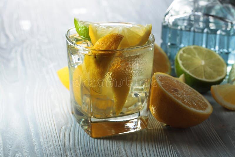 Ποτό με το λεμόνι και τον πάγο στοκ φωτογραφία με δικαίωμα ελεύθερης χρήσης