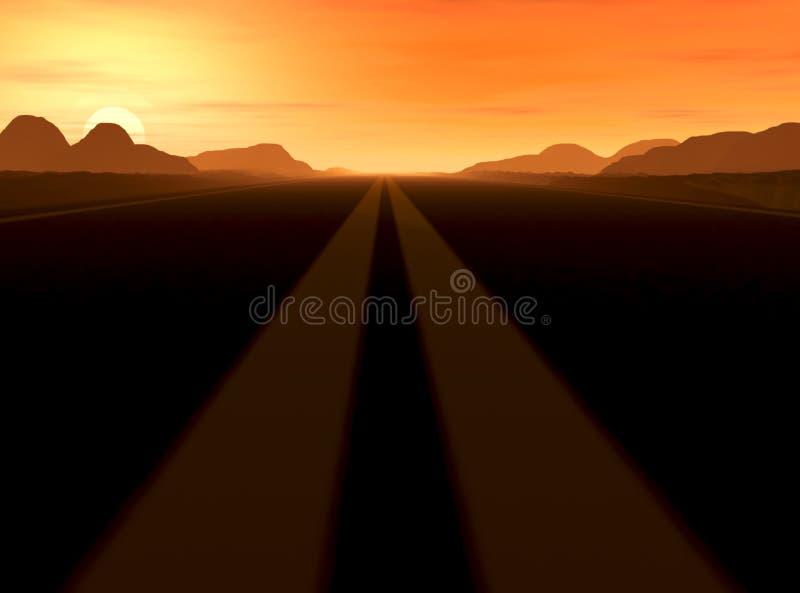 πουθενά δρόμος στοκ φωτογραφία