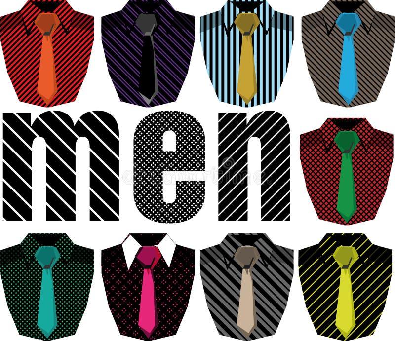 πουκάμισο ατόμων s απεικόν&iot διανυσματική απεικόνιση