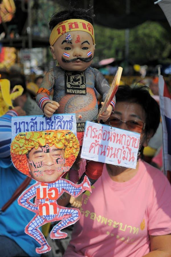 πουκάμισο διαμαρτυρίας της Μπανγκόκ κίτρινο στοκ φωτογραφίες με δικαίωμα ελεύθερης χρήσης