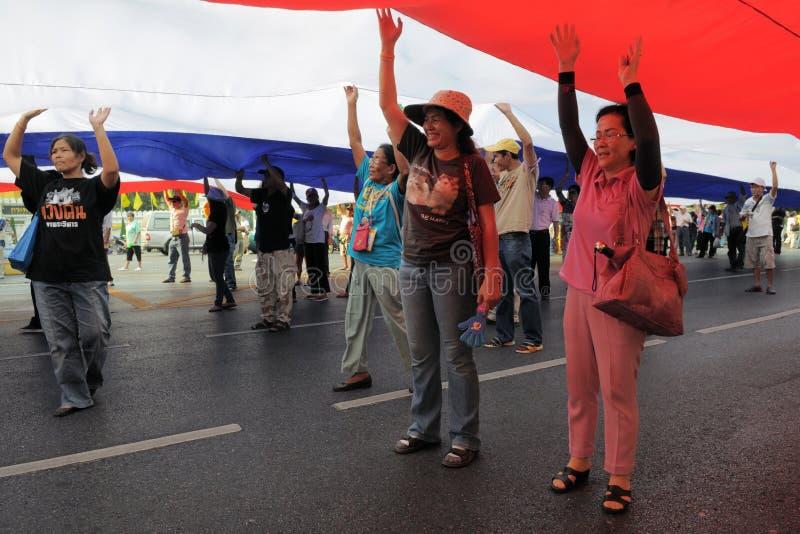 πουκάμισο διαμαρτυρίας της Μπανγκόκ κίτρινο στοκ εικόνες