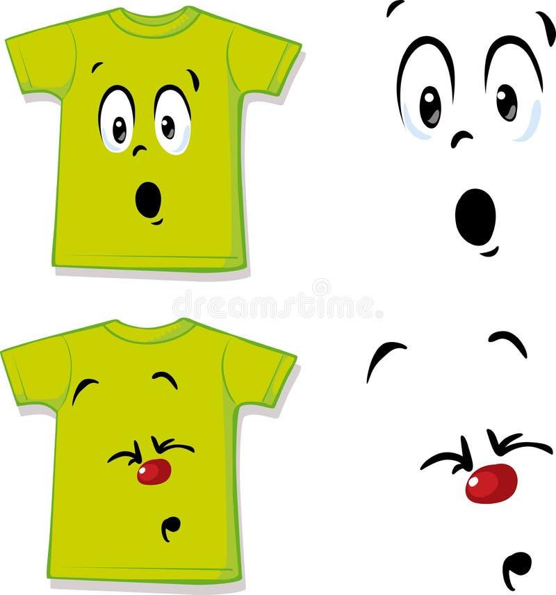 Πουκάμισο με την αστεία έκφραση προσώπου - διάνυσμα illustrationShirt με την αστεία έκφραση προσώπου - διανυσματική απεικόνιση ελεύθερη απεικόνιση δικαιώματος