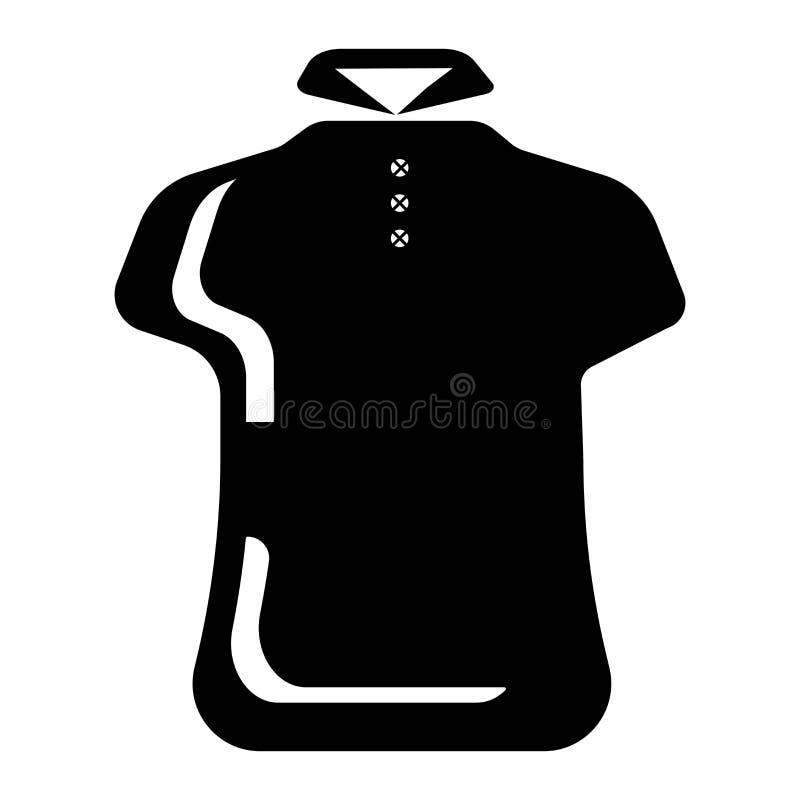 Πουκάμισο πόλο για το διανυσματικό σημάδι εικονιδίων γυναικών και σύμβολο που απομονώνεται στο άσπρο υπόβαθρο, πουκάμισο πόλο για διανυσματική απεικόνιση