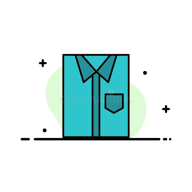 Πουκάμισο, ύφασμα, ιματισμός, φόρεμα, μόδα, επίσημος, ένδυσης πρότυπο εμβλημάτων επιχειρησιακών επίπεδο γεμισμένο γραμμή εικονιδί απεικόνιση αποθεμάτων