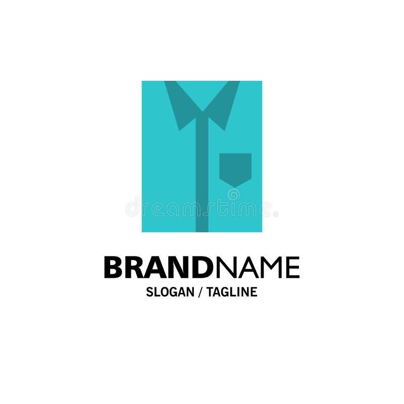 Πουκάμισο, ύφασμα, ιματισμός, φόρεμα, μόδα, επίσημος, πρότυπο επιχειρησιακών λογότυπων ένδυσης Επίπεδο χρώμα ελεύθερη απεικόνιση δικαιώματος