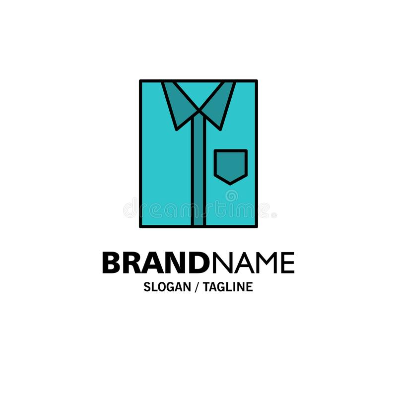 Πουκάμισο, ύφασμα, ιματισμός, φόρεμα, μόδα, επίσημος, πρότυπο επιχειρησιακών λογότυπων ένδυσης Επίπεδο χρώμα διανυσματική απεικόνιση