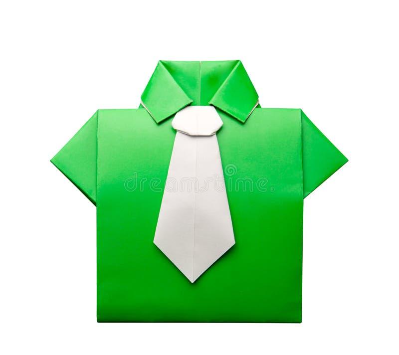 Πουκάμισο Origami με το δεσμό στοκ εικόνα με δικαίωμα ελεύθερης χρήσης