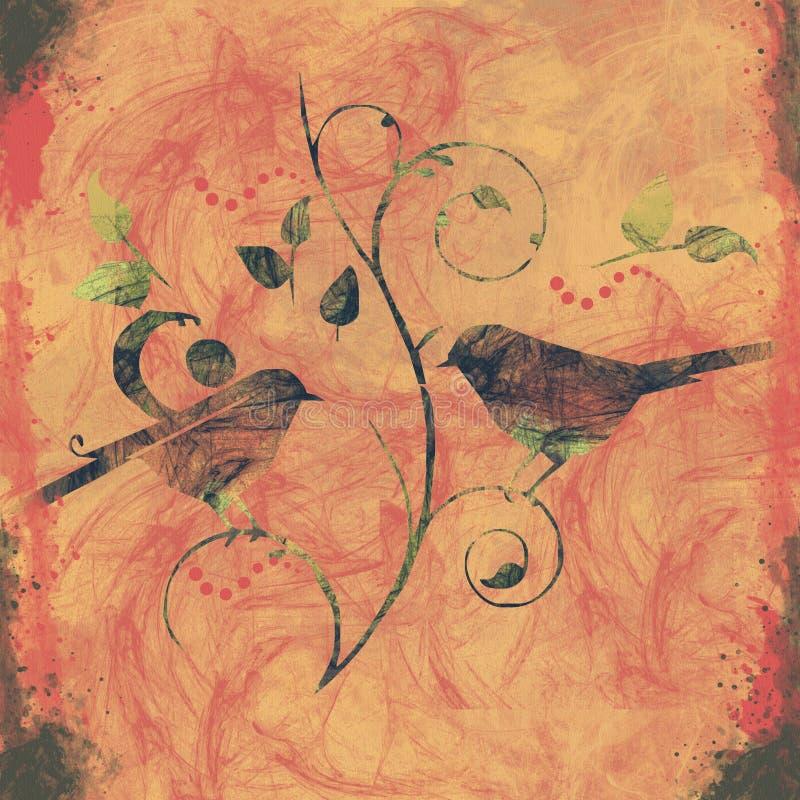 πουλί ανασκόπησης στοκ εικόνα