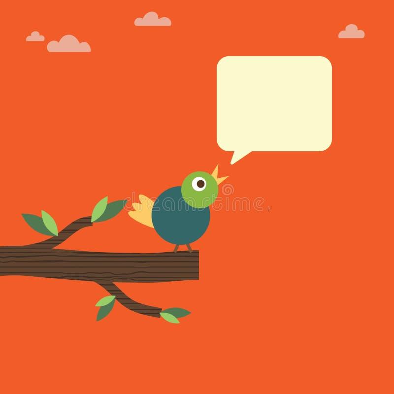 πουλί σκαρφαλωμένο διανυσματική απεικόνιση