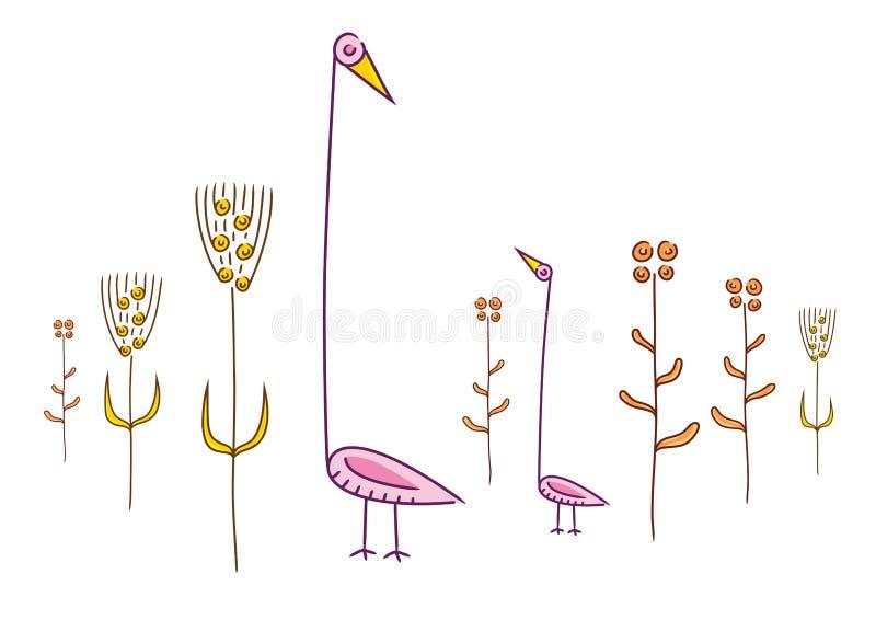 πουλιά περίεργα ελεύθερη απεικόνιση δικαιώματος