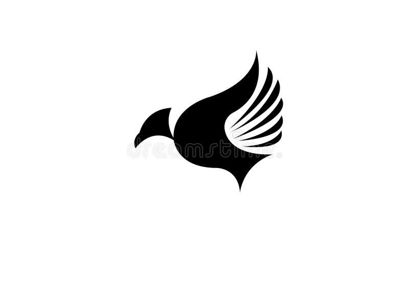 Πουλιών μυγών δημιουργική πολυτέλεια προτύπων Editable λογότυπων σύγχρονη απλή διανυσματική διανυσματική απεικόνιση