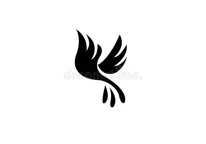 Πουλιών μυγών δημιουργική πολυτέλεια προτύπων Editable λογότυπων σύγχρονη απλή διανυσματική ελεύθερη απεικόνιση δικαιώματος