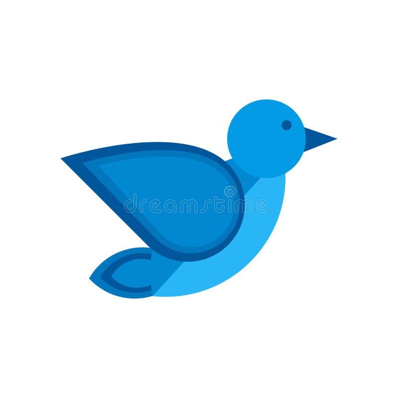 Πουλιών σημάδι και σύμβολο εικονιδίων διανυσματικό που απομονώνονται στο άσπρο υπόβαθρο, έννοια λογότυπων πουλιών απεικόνιση αποθεμάτων
