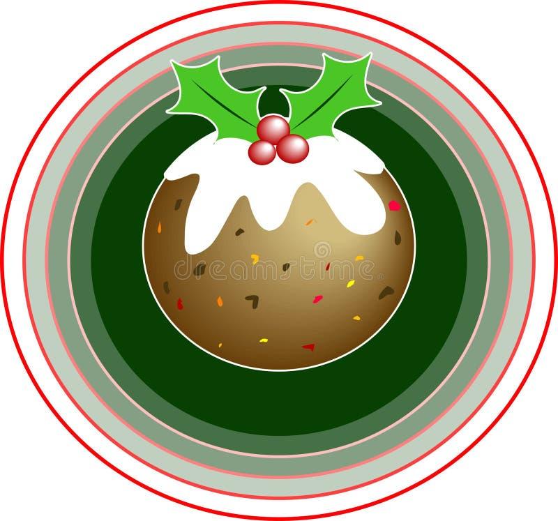 πουτίγκα Χριστουγέννων απεικόνιση αποθεμάτων