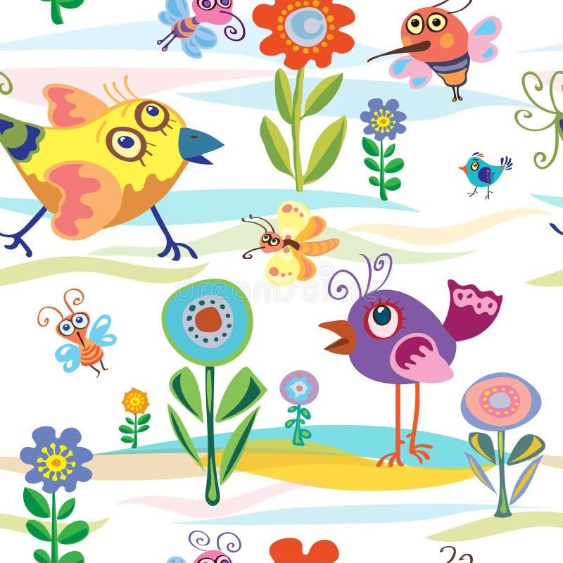 Πουλί, λίγα, καλοκαίρι, άνοιξη, διάνυσμα, σχέδιο στοκ φωτογραφία με δικαίωμα ελεύθερης χρήσης