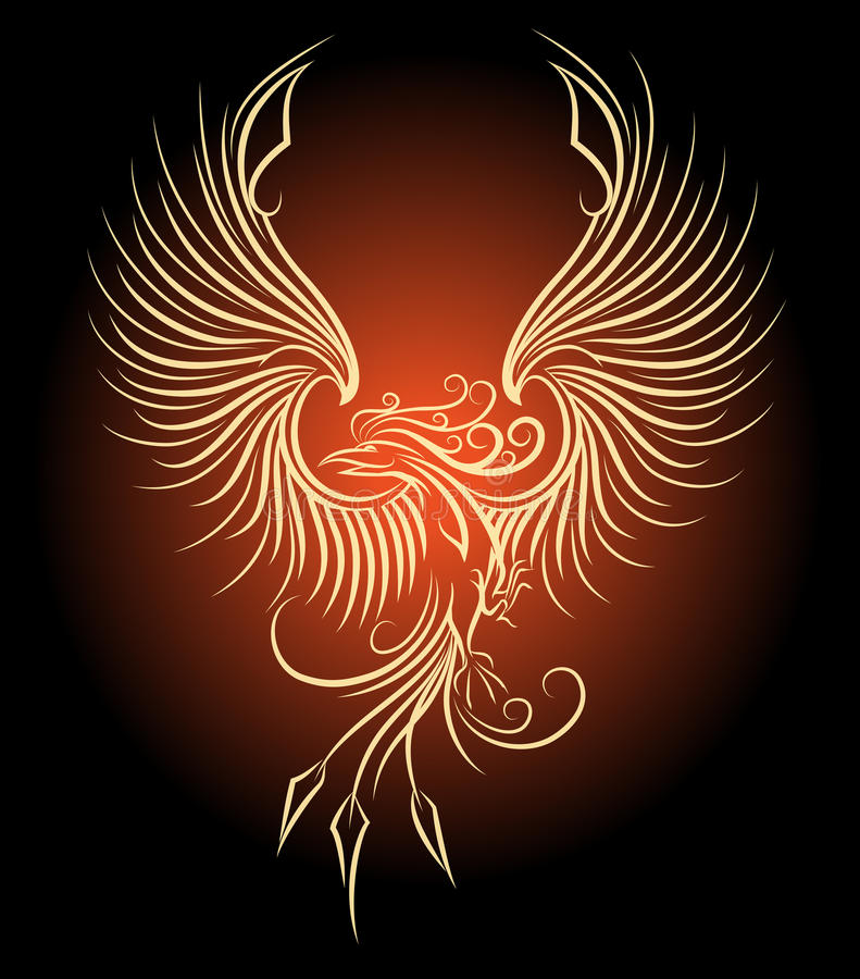 Πουλί του Phoenix ελεύθερη απεικόνιση δικαιώματος