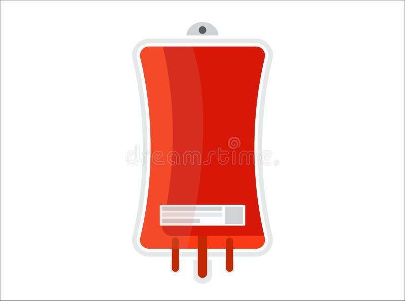 Που απομονώνεται Δωρεά αίματος Απομονωμένη απεικόνιση στο επίπεδο ύφος r απεικόνιση αποθεμάτων