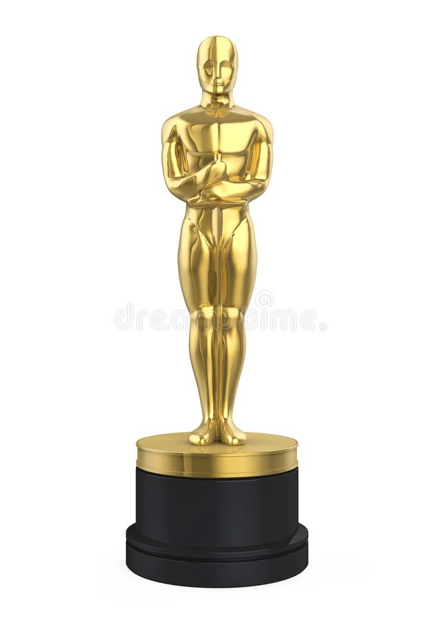 Που απομονώνεται Statuette του Oscar ελεύθερη απεικόνιση δικαιώματος