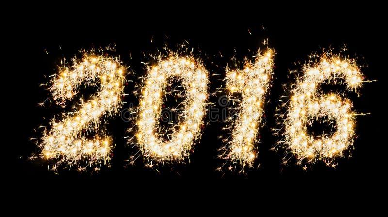 2016 που γίνεται με τα σπινθηρίσματα στοκ εικόνες