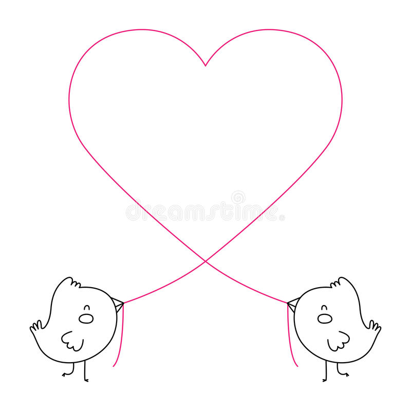Πουλιά αγάπης και ένα δέντρο απεικόνιση αποθεμάτων