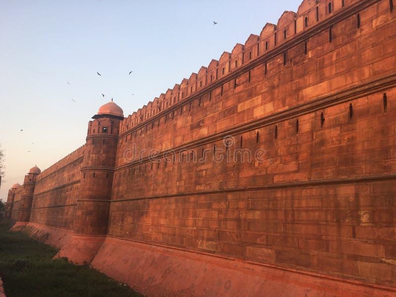 Πουλιά πέρα από το κάστρο στοκ εικόνες
