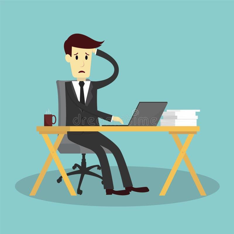 Που τονίζεται επιχειρηματίας και που εξαντλείται διανυσματική απεικόνιση