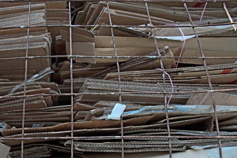 Πολλά διπλωμένα χαρτοκιβώτια στοκ εικόνες με δικαίωμα ελεύθερης χρήσης