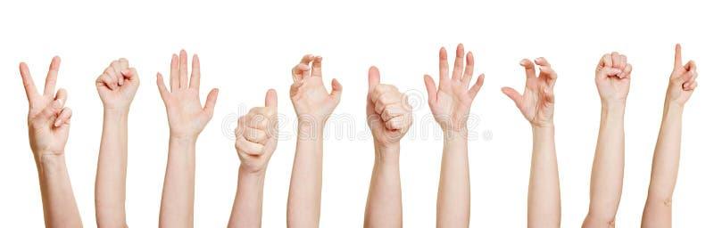 Πολλά χέρια που κάνουν διαφορετικά στοκ εικόνα