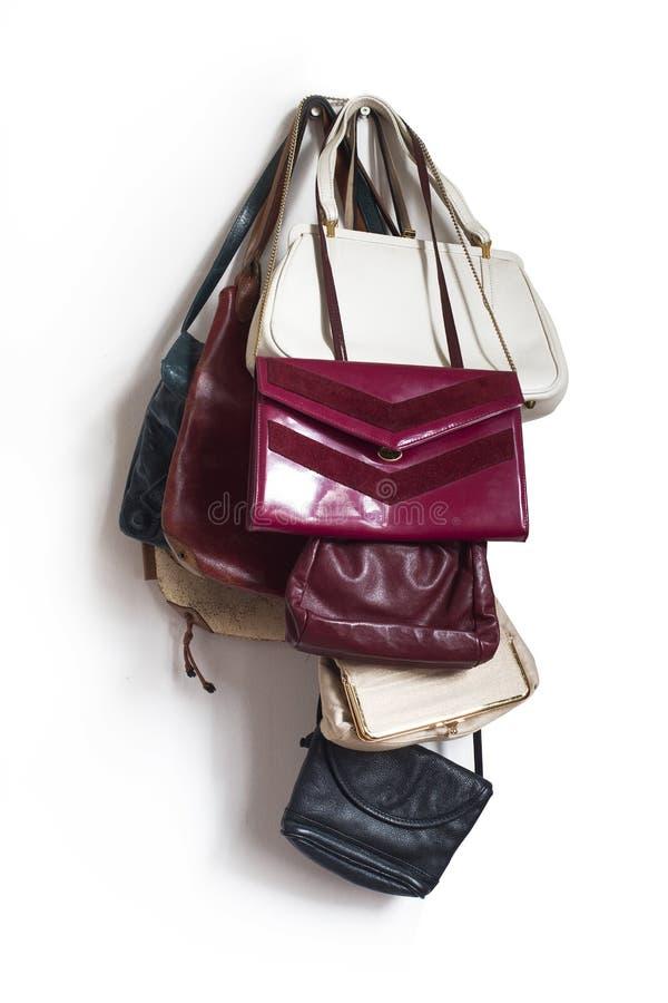Πολλές εκλεκτής ποιότητας τσάντες γυναικών στοκ φωτογραφίες με δικαίωμα ελεύθερης χρήσης