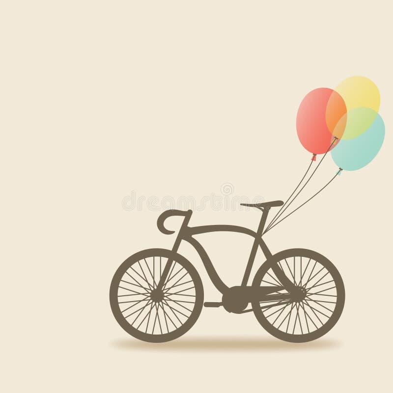 Ποδήλατο με τα μπαλόνια απεικόνιση αποθεμάτων