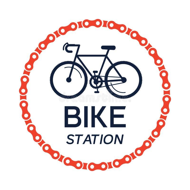 Ποδήλατο-λογότυπο απεικόνιση αποθεμάτων