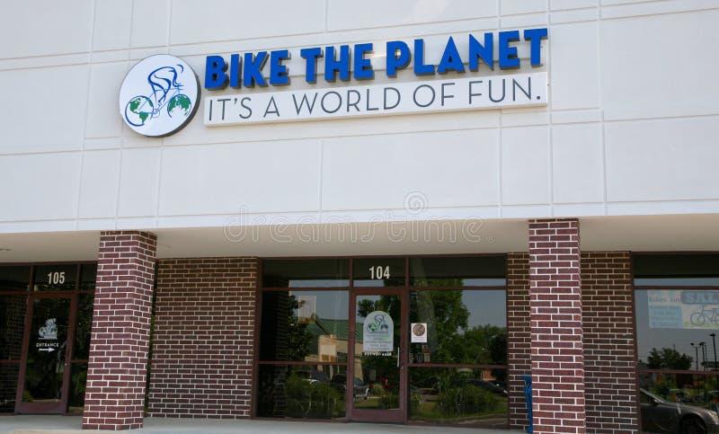 Ποδήλατο ο πλανήτης στοκ εικόνες