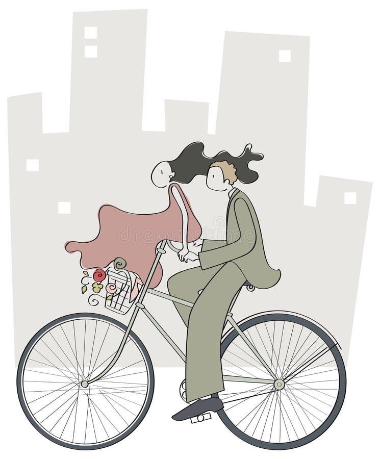 Ποδήλατο περπατήματος ζεύγους στοκ φωτογραφία με δικαίωμα ελεύθερης χρήσης