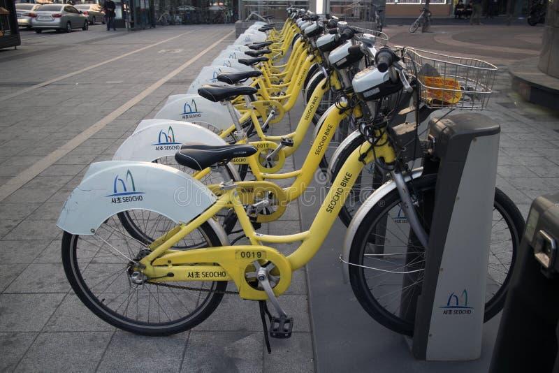 Ποδήλατο Σεούλ πόλεων στοκ φωτογραφία