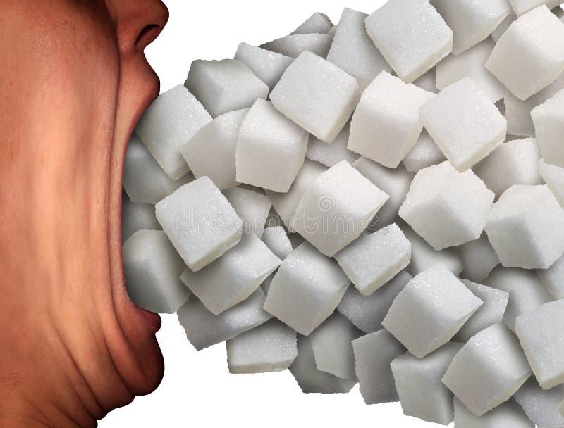πολλή ζάχαρη επίσης ελεύθερη απεικόνιση δικαιώματος
