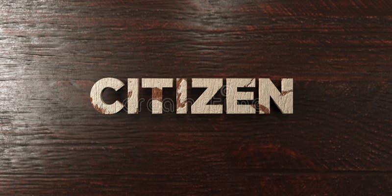 Πολίτης - βρώμικος ξύλινος τίτλος στο σφένδαμνο - τρισδιάστατο δικαίωμα ελεύθερη εικόνα αποθεμάτων ελεύθερη απεικόνιση δικαιώματος