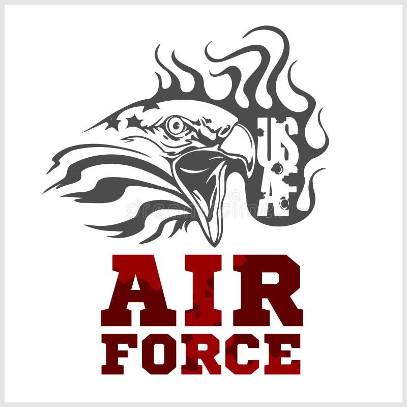 Πολεμική Αεροπορία των Η.Π.Α. - στρατιωτικό σχέδιο διάνυσμα απεικόνιση αποθεμάτων