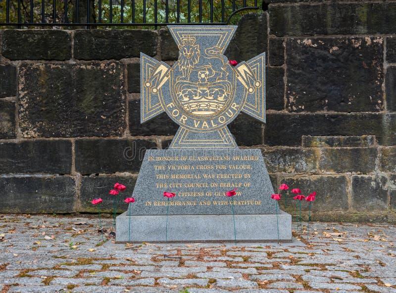 Πολεμικό αναμνηστικό Victoria Cross της Γλασκώβης στοκ φωτογραφία