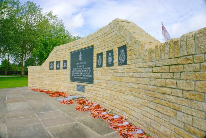 Πολεμικό μνημείο των Νησιών Φόλκλαντ στοκ εικόνα