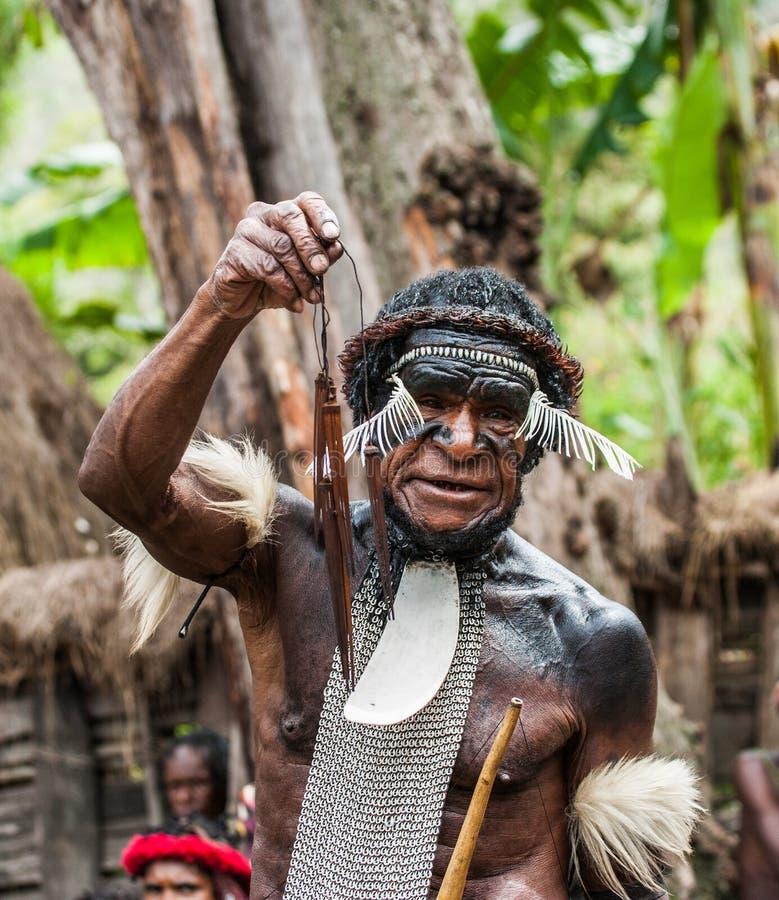 Πολεμιστές φυλών της Dani στοκ εικόνες