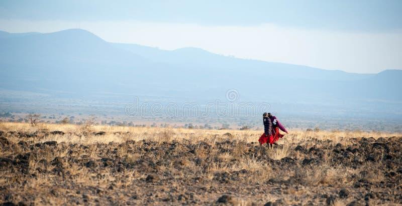 Πολεμιστές Masai του Amboseli στοκ φωτογραφία με δικαίωμα ελεύθερης χρήσης