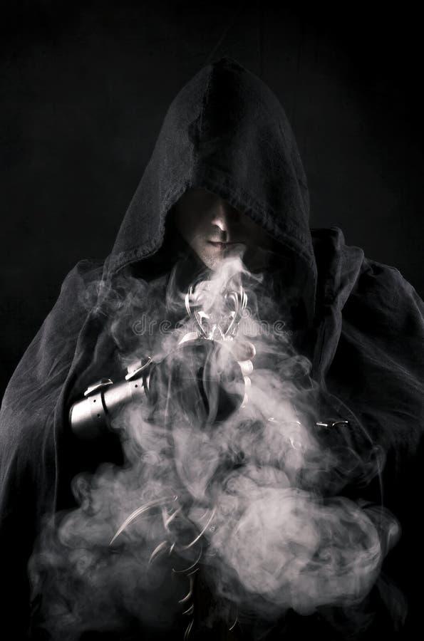 Πολεμιστής στον αφηρημένο καπνό στοκ εικόνα με δικαίωμα ελεύθερης χρήσης